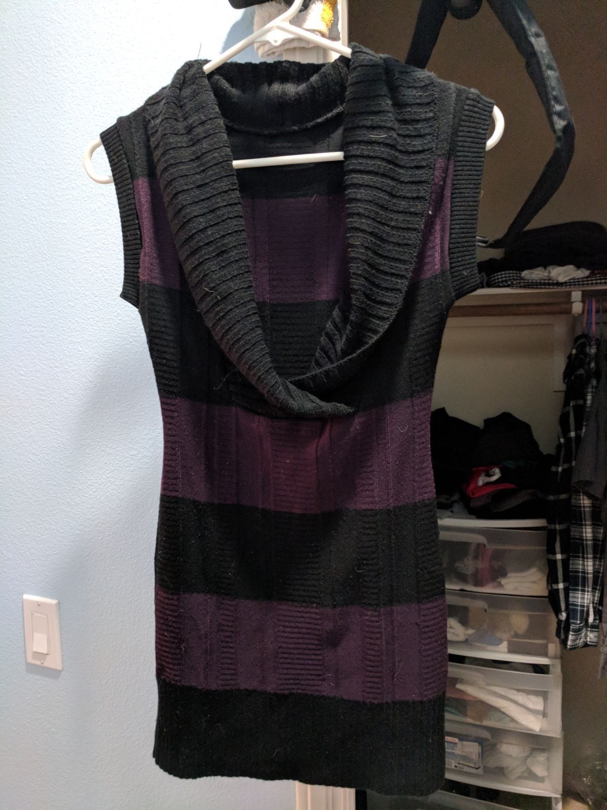 Black and Purple Sweater Dress - Mercari: BUY & SELL THINGS YOU LOVE