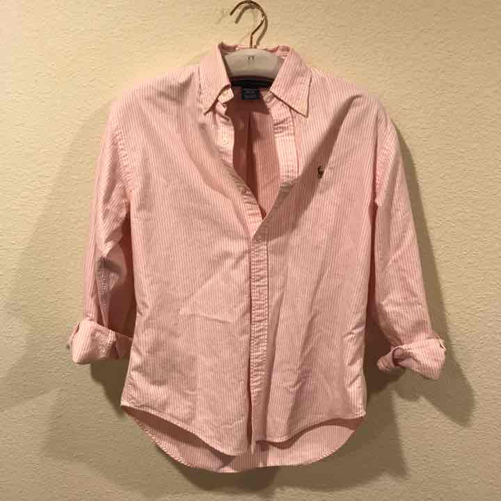 Ralph Lauren pink striped button down