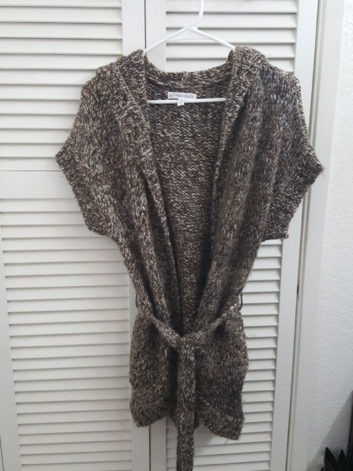 Wool short sleeve cardigan - Mercari: BUY & SELL THINGS YOU LOVE