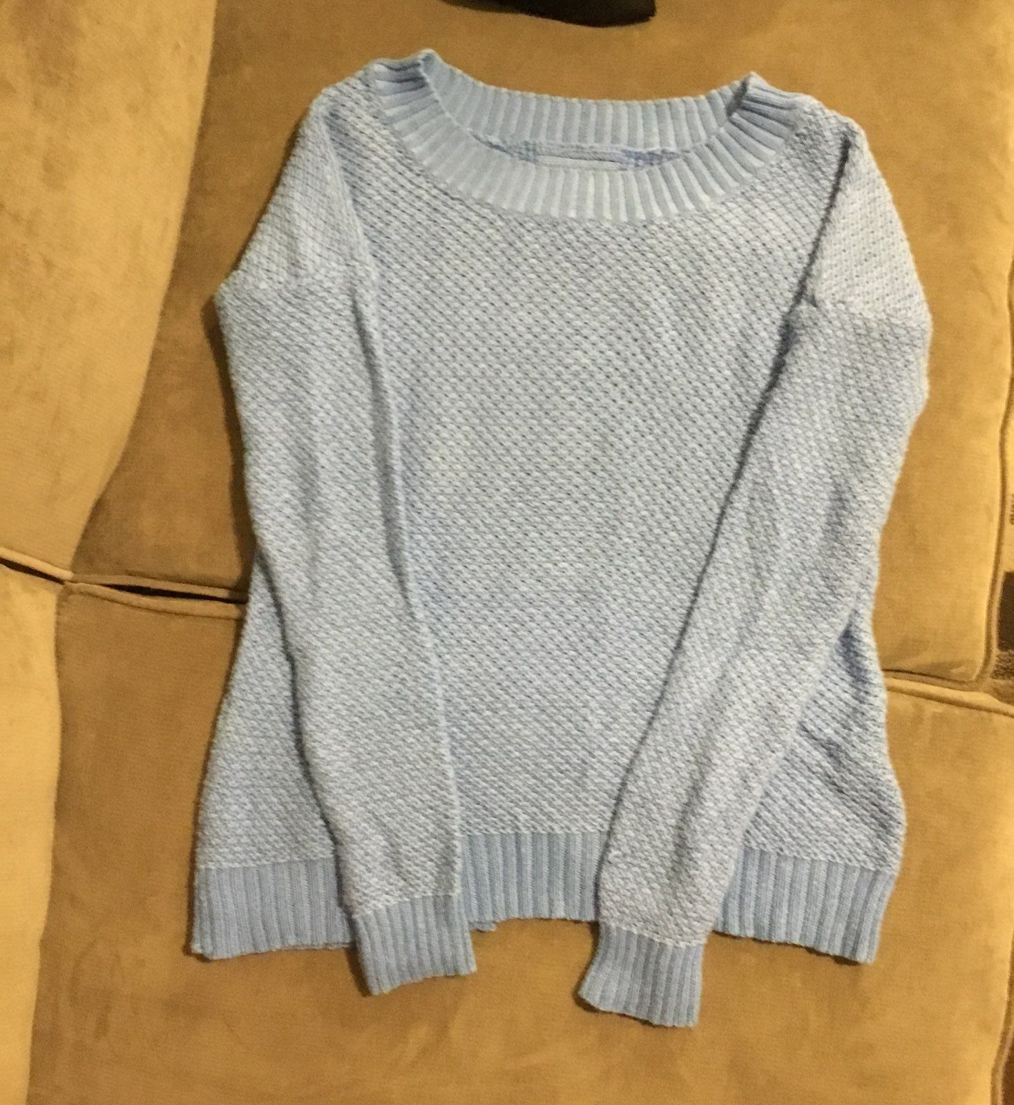 Lightweight Heather Blue Sweater - Mercari: BUY & SELL THINGS YOU LOVE