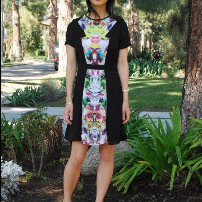 Prabal Gurung Target black floral dress