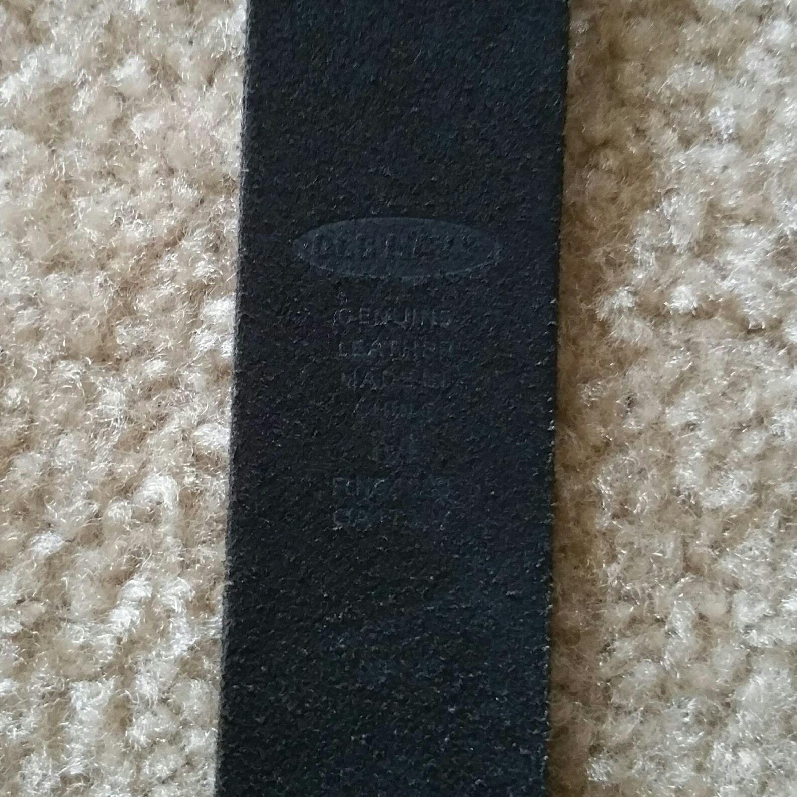 Old Navy black leather belt, L/Large