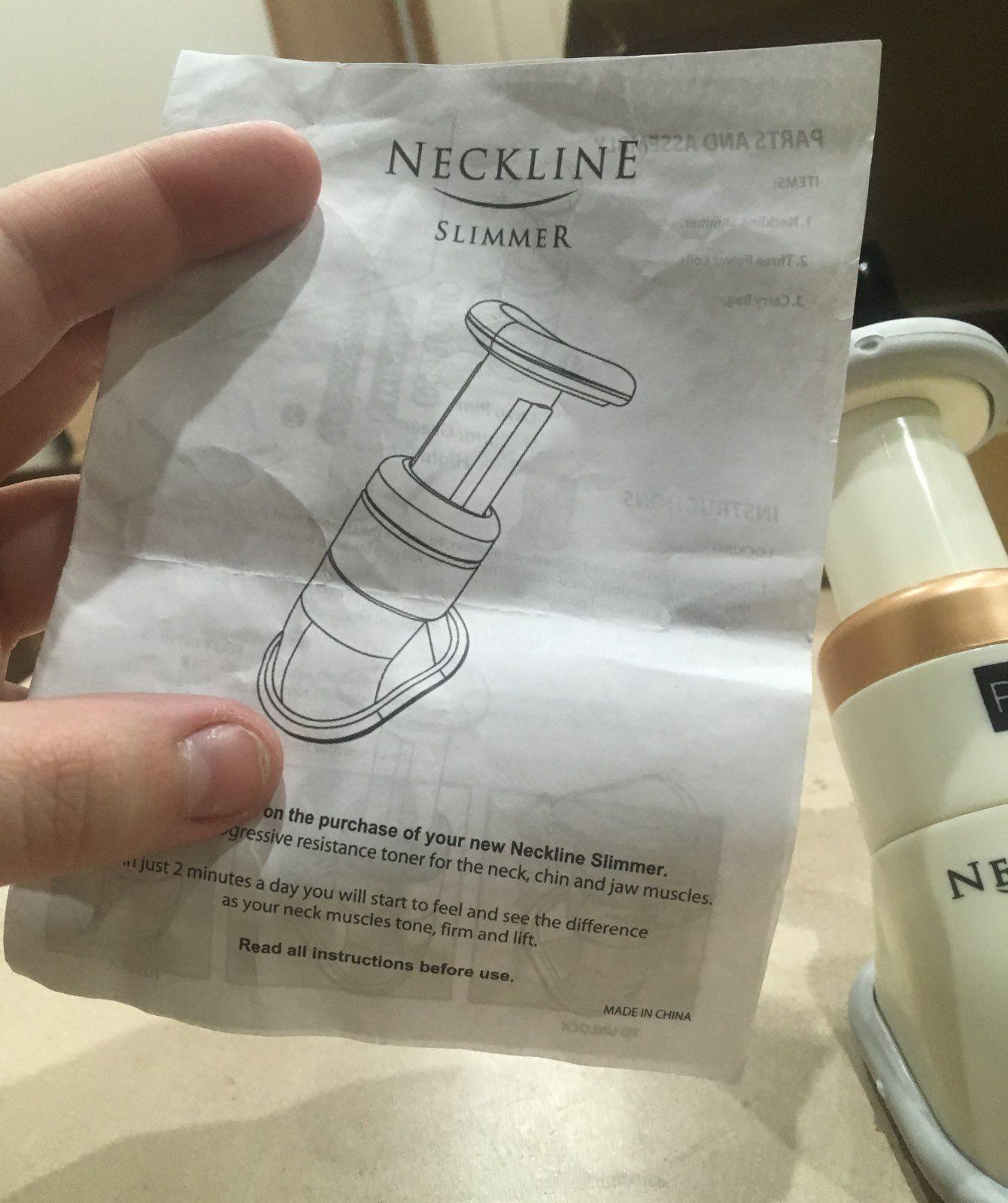 Neckline Slimmer With Case & Instruction