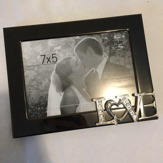 Two Wedding Engagement Photo Frames 5x7