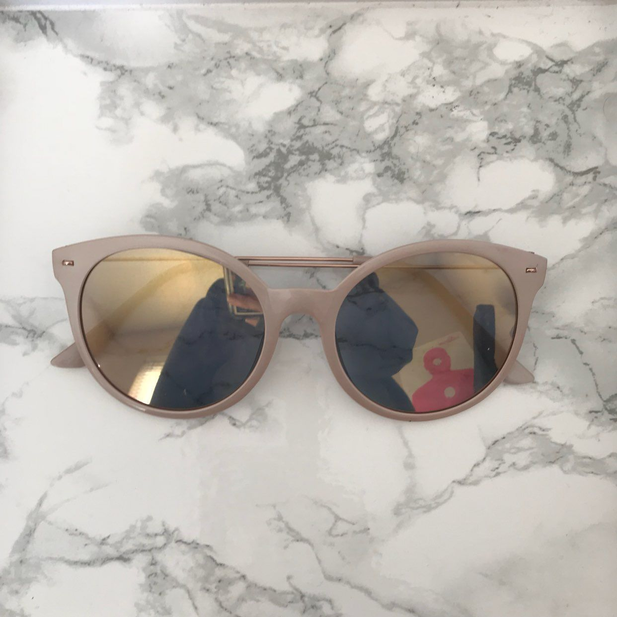 c266bdcc34 urban outfitter light pink sunglasses - Mercari  The Selling App