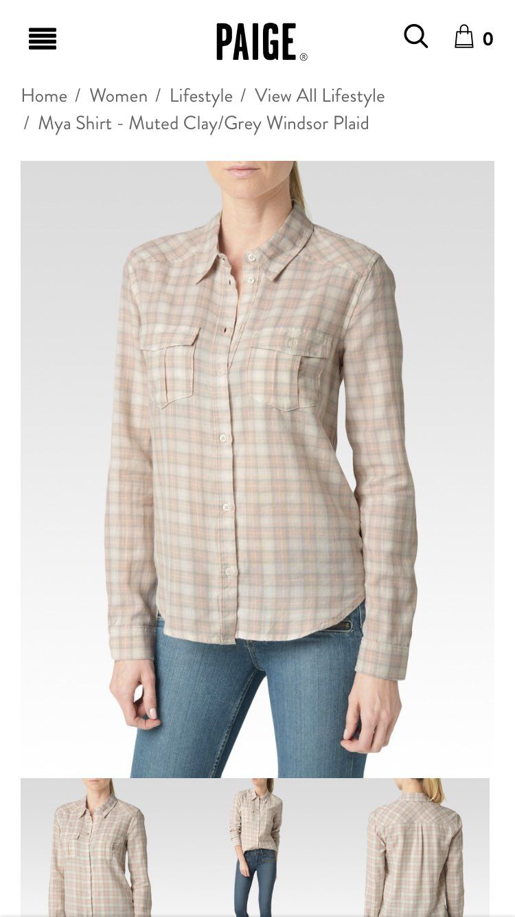 NWT Paige Plaid Flannel Button Down