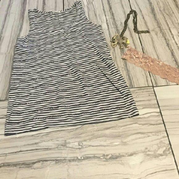 J. Crew striped sequin top XS