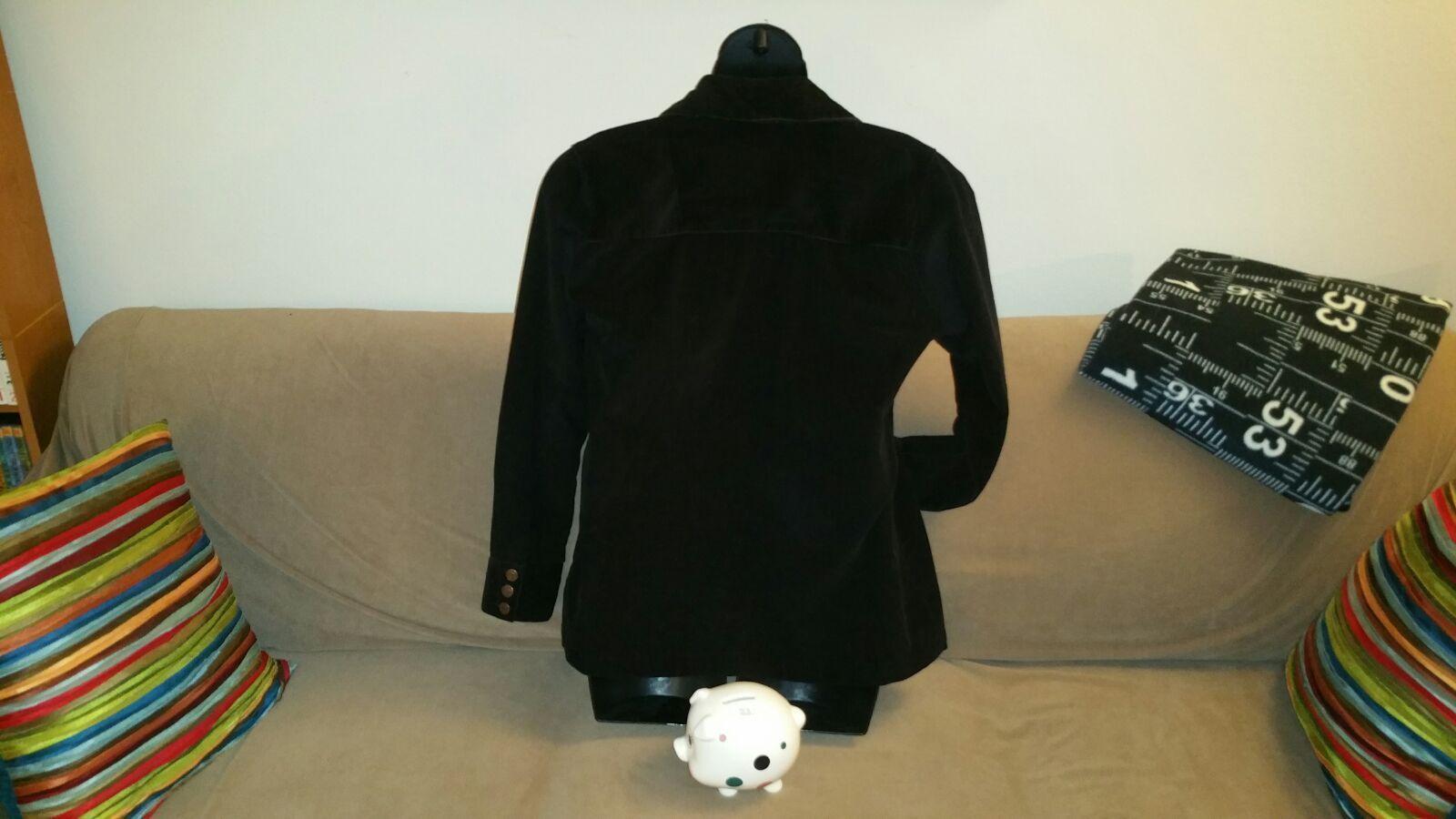 Black corduroy jacket Women's Large L