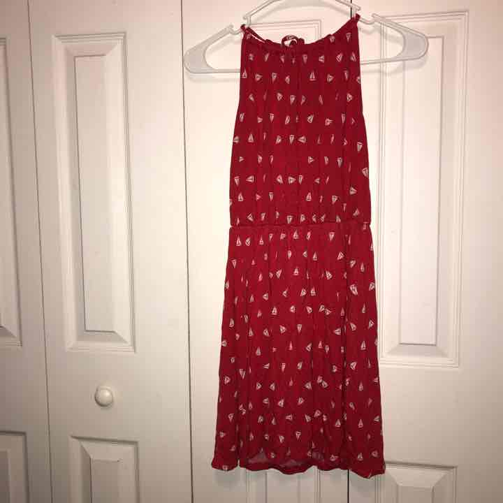 Old Navy Red Sailboat Dress