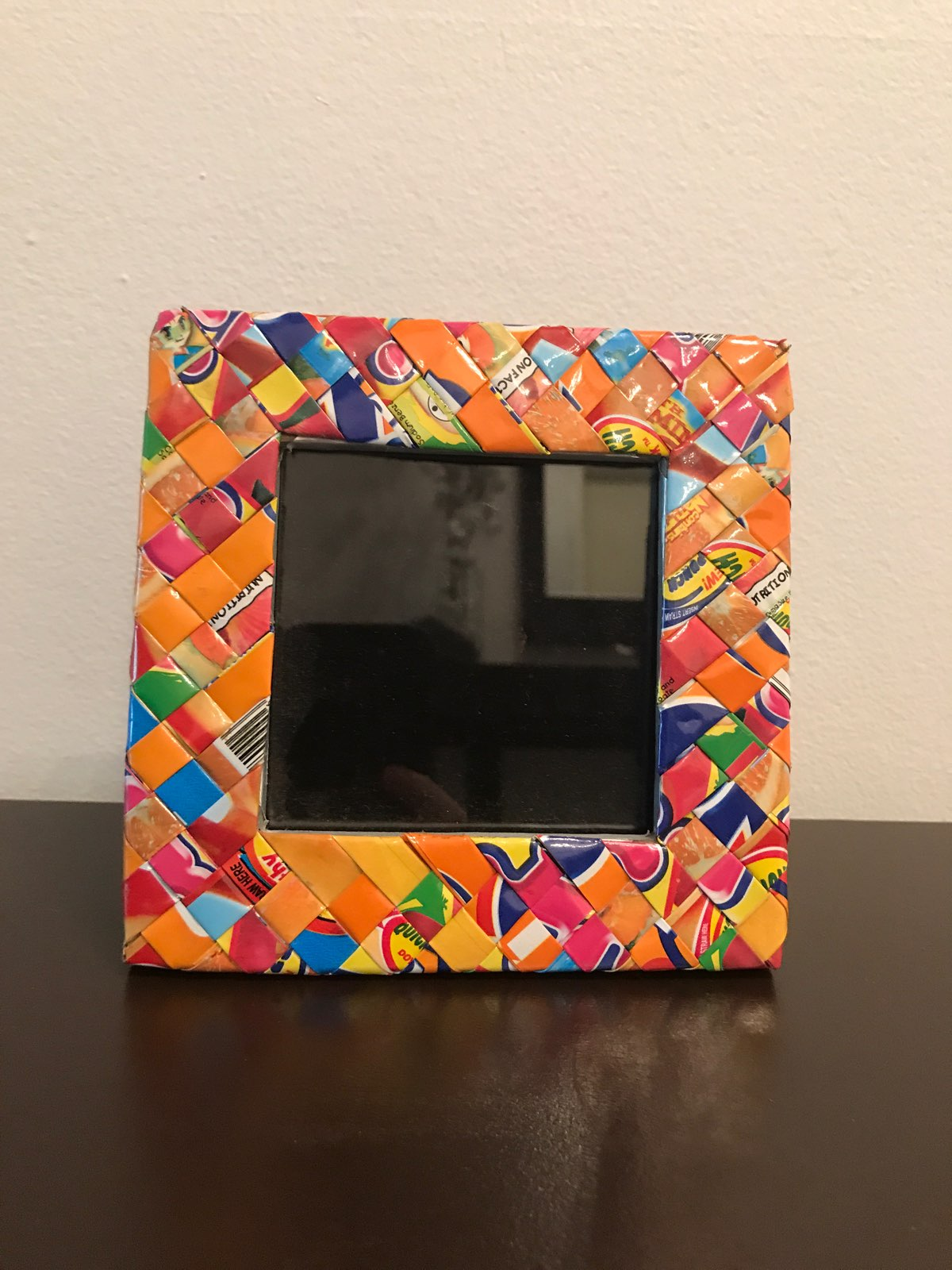 Candy Wrapper Photo Frame