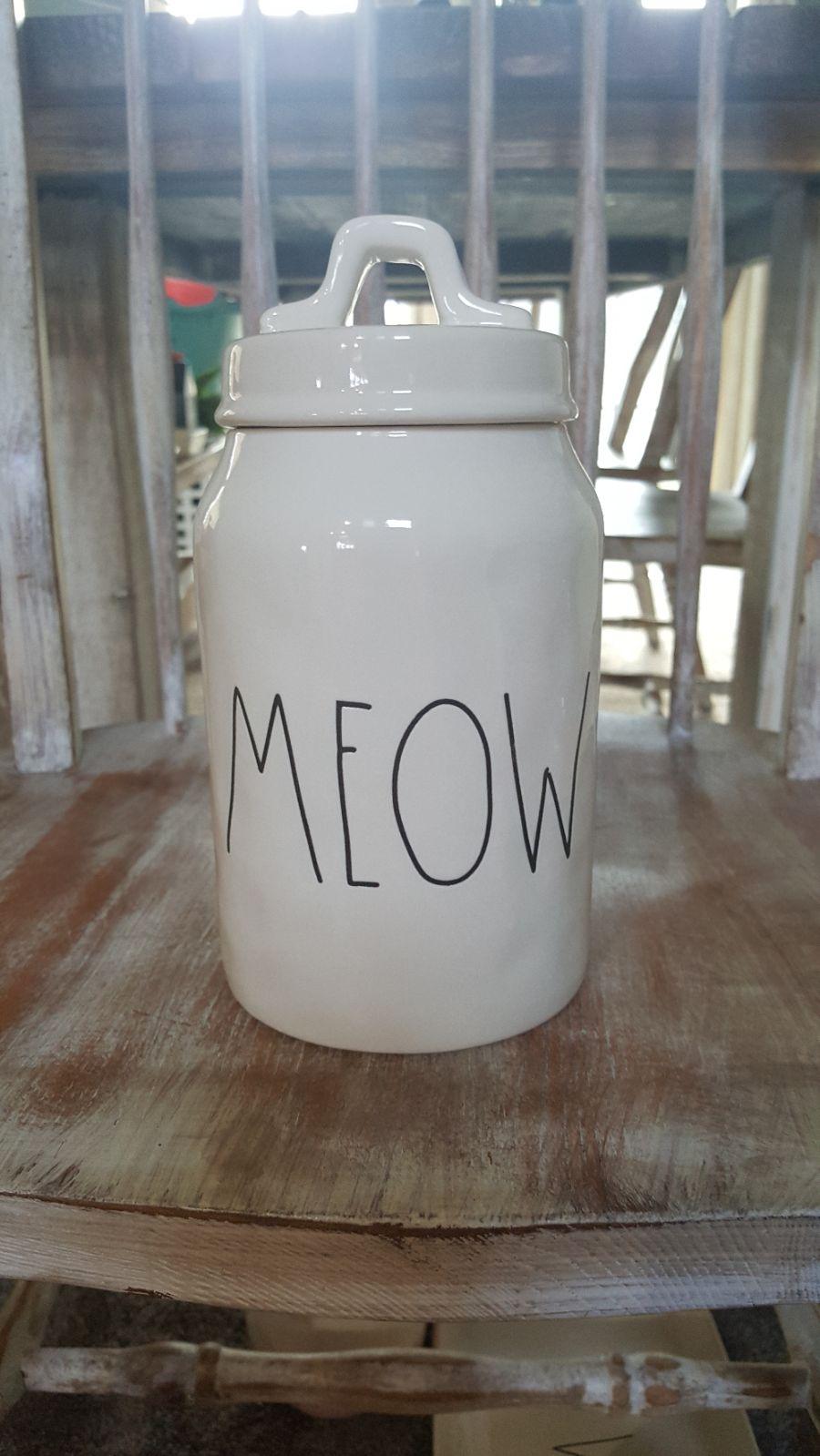 Rae Dunn meow canister