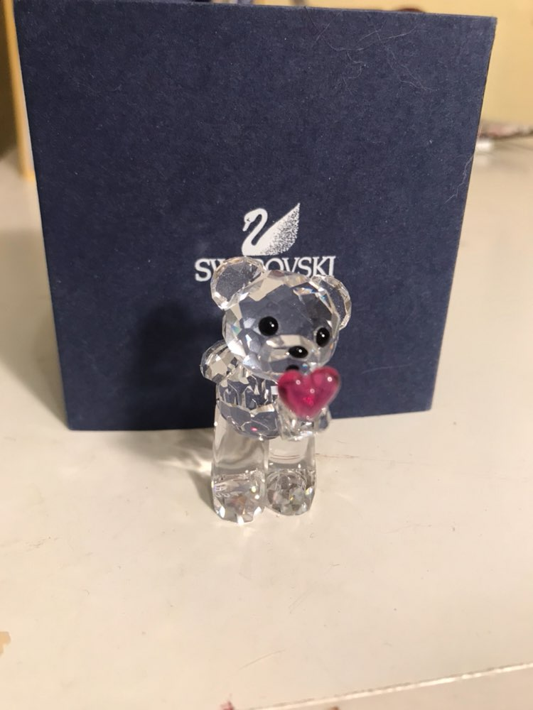 Swarovski Crystal Bear Blowing Kisses