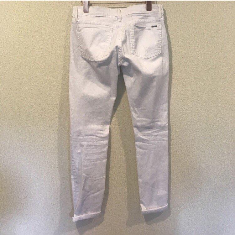 Fidelity White Distressed Skinny Jeans