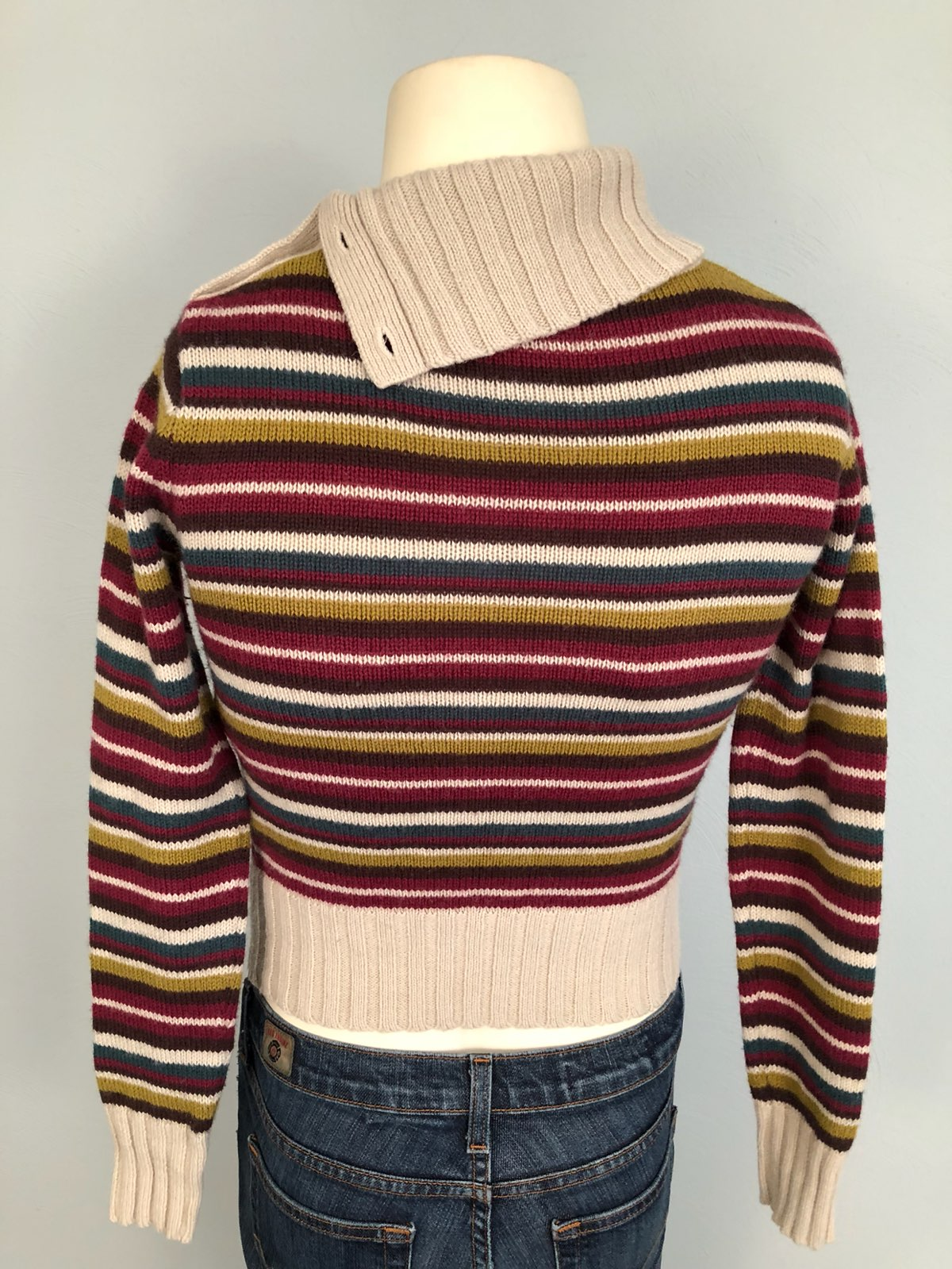 Zara Wool/Cotton Cowl Neck Sweater Small - Mercari: BUY & SELL ...