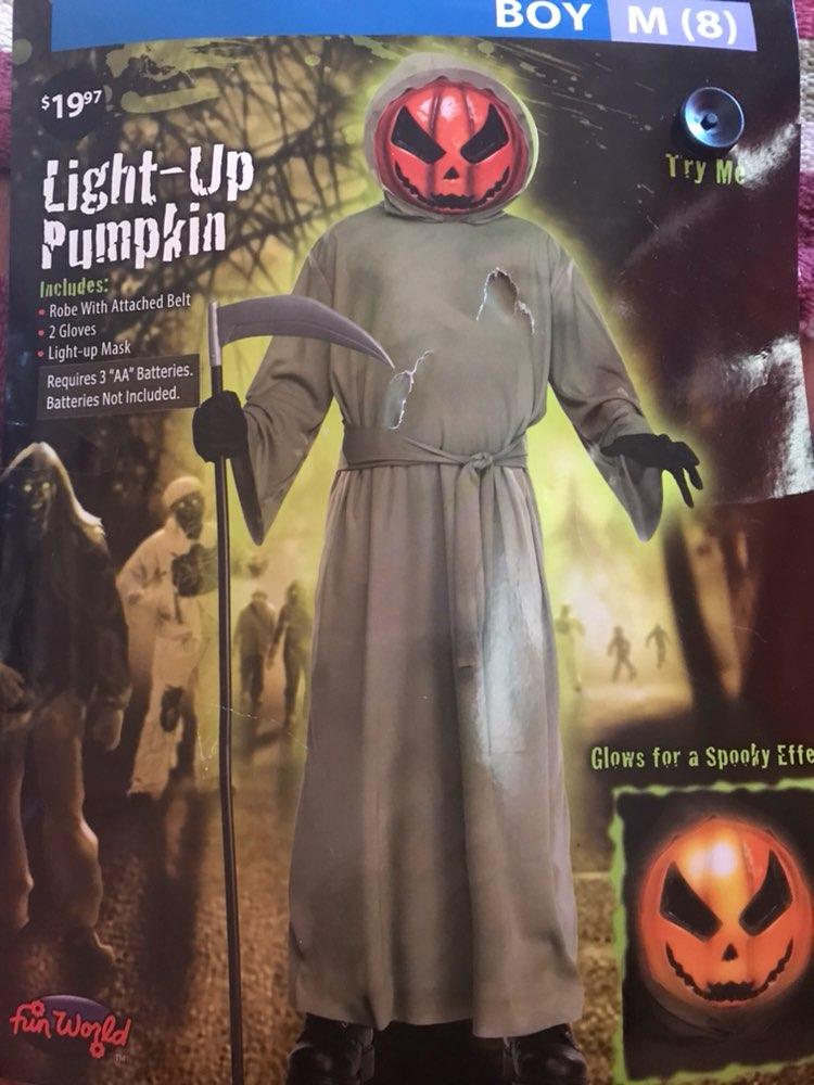 Light Up pumpkin Costume.