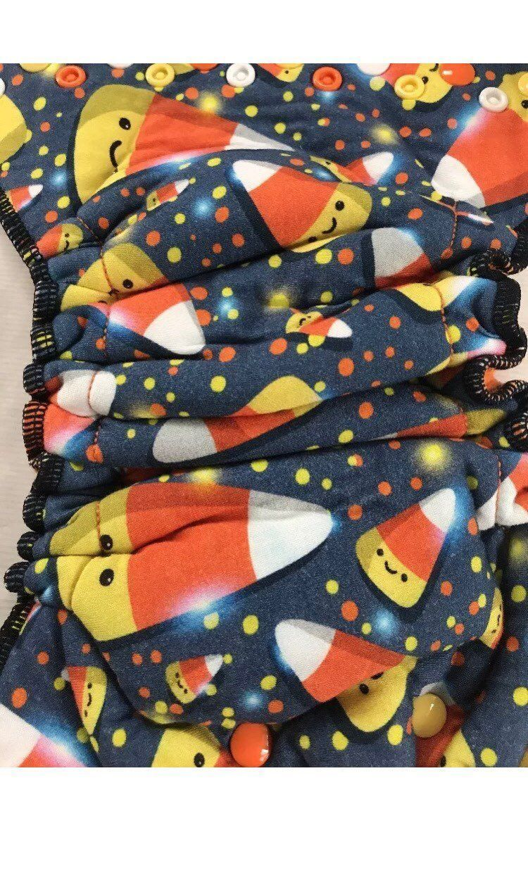 Candy Corn Cloth Diaper Halloween