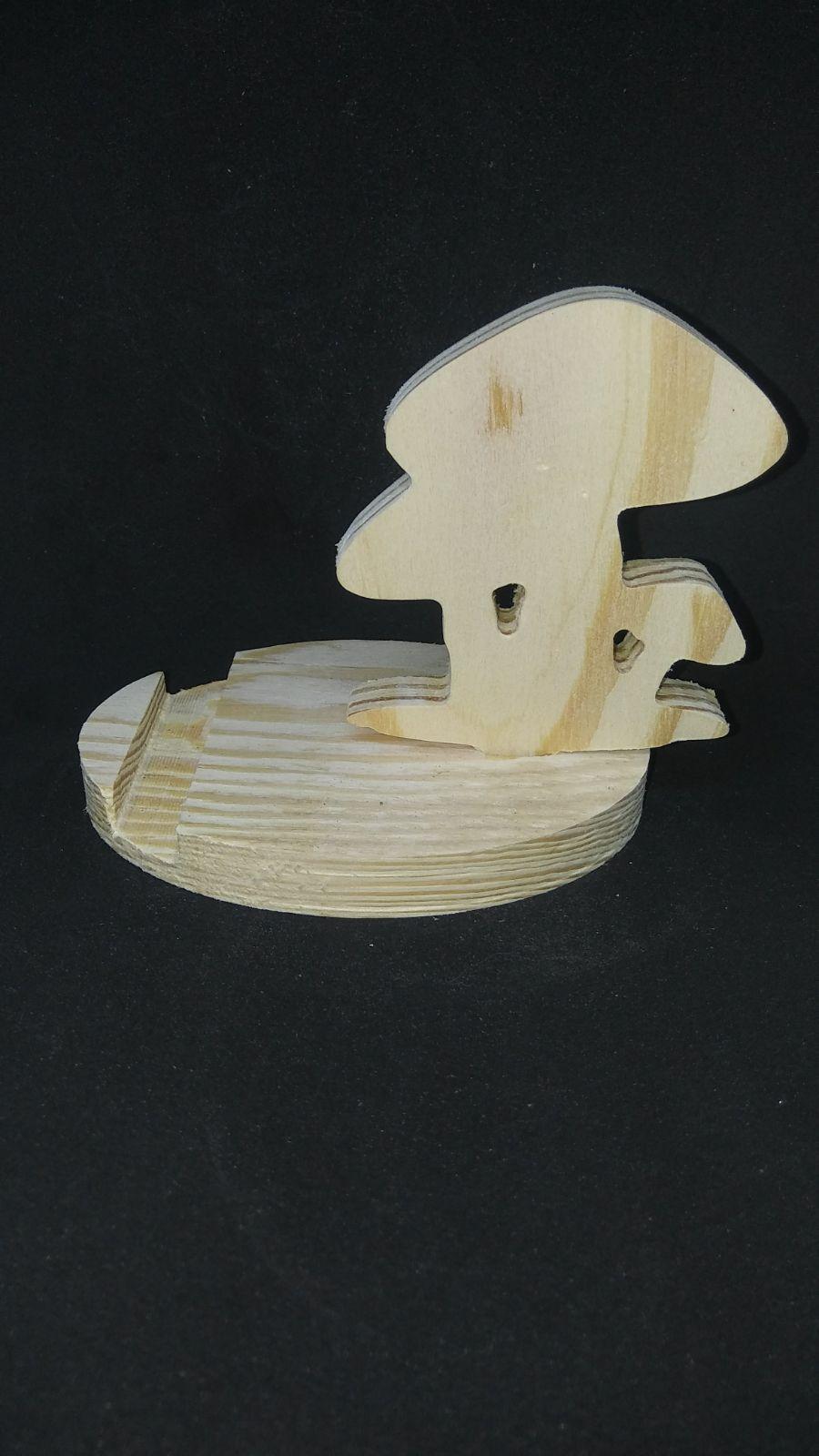 Wood Phone Stand - Mushrooms
