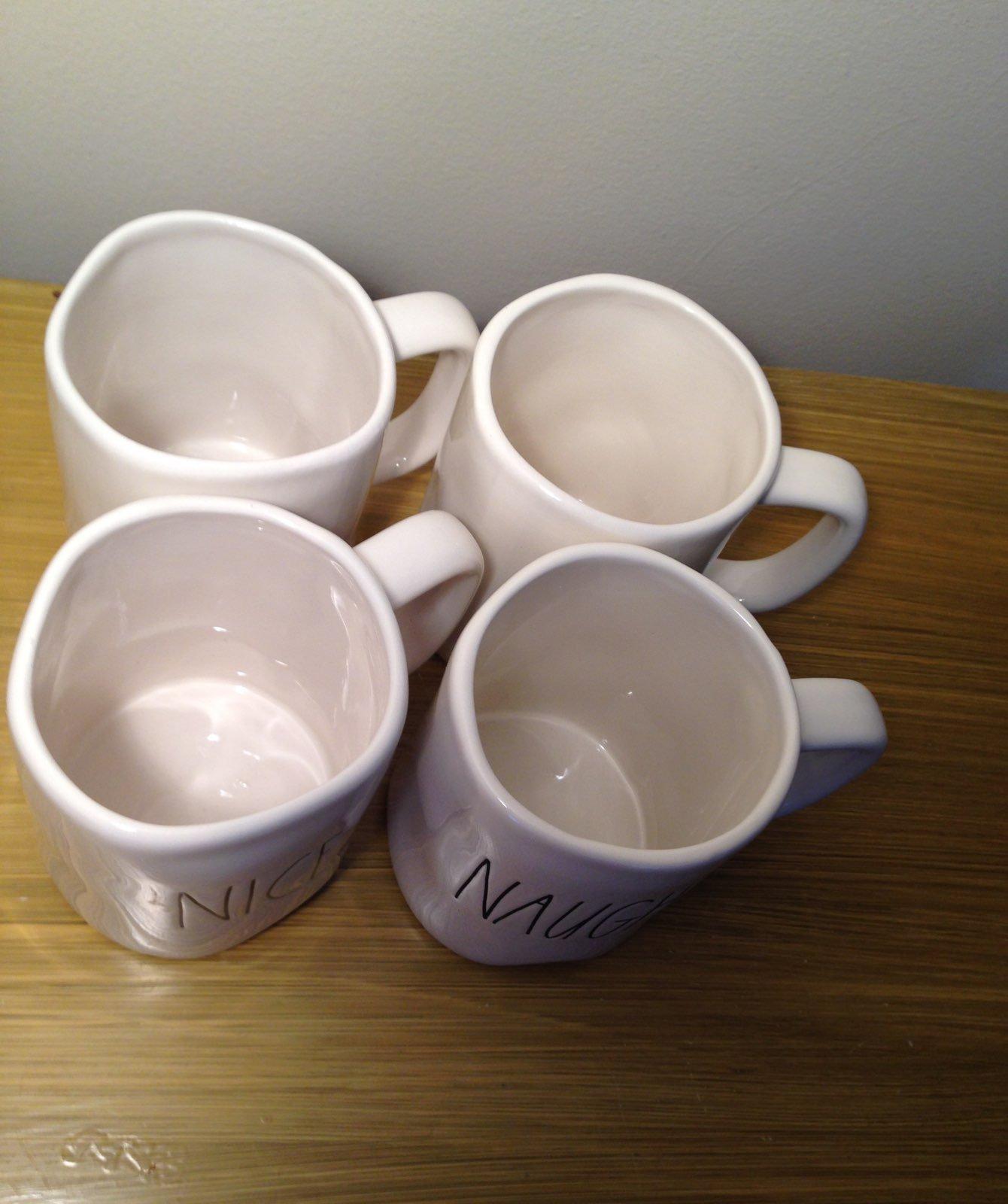 Rae Dunn Naughty & Nice Mugs (4)