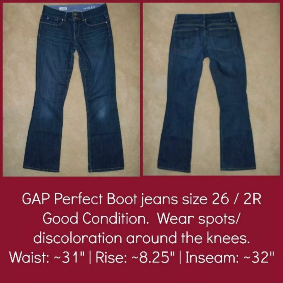 Gap Perfect Boot jeans size 26