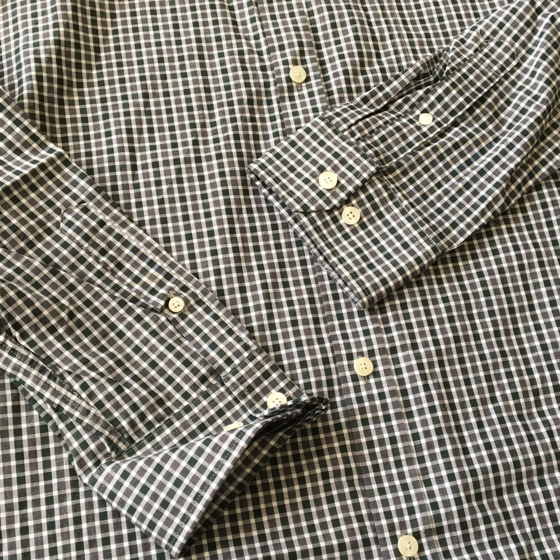 Joseph Abboud Black Gray Grid Shirt