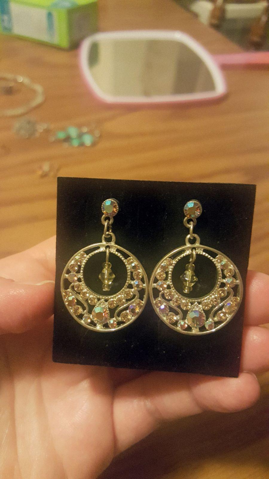 Circle crystal chandelier earrings mercari buy sell things circle crystal chandelier earrings arubaitofo Images