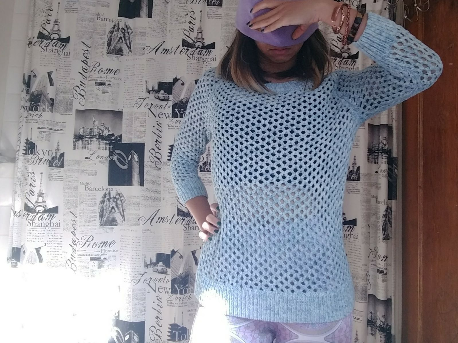 Powder Blue Sweater - Mercari: BUY & SELL THINGS YOU LOVE