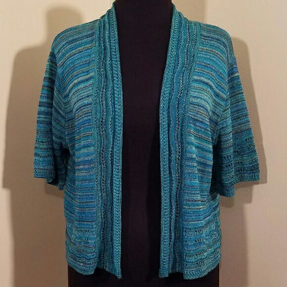 Short-sleeve Turquoise Cardigan, 1X - Mercari: BUY & SELL THINGS ...