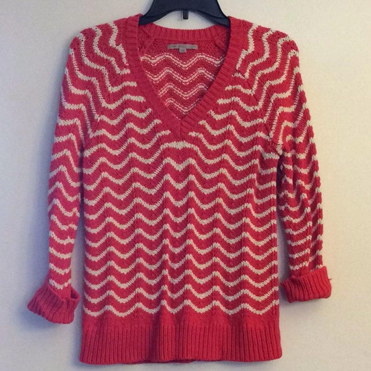 GAP Red White Wavy Striped Sweater - Mercari: BUY & SELL THINGS ...