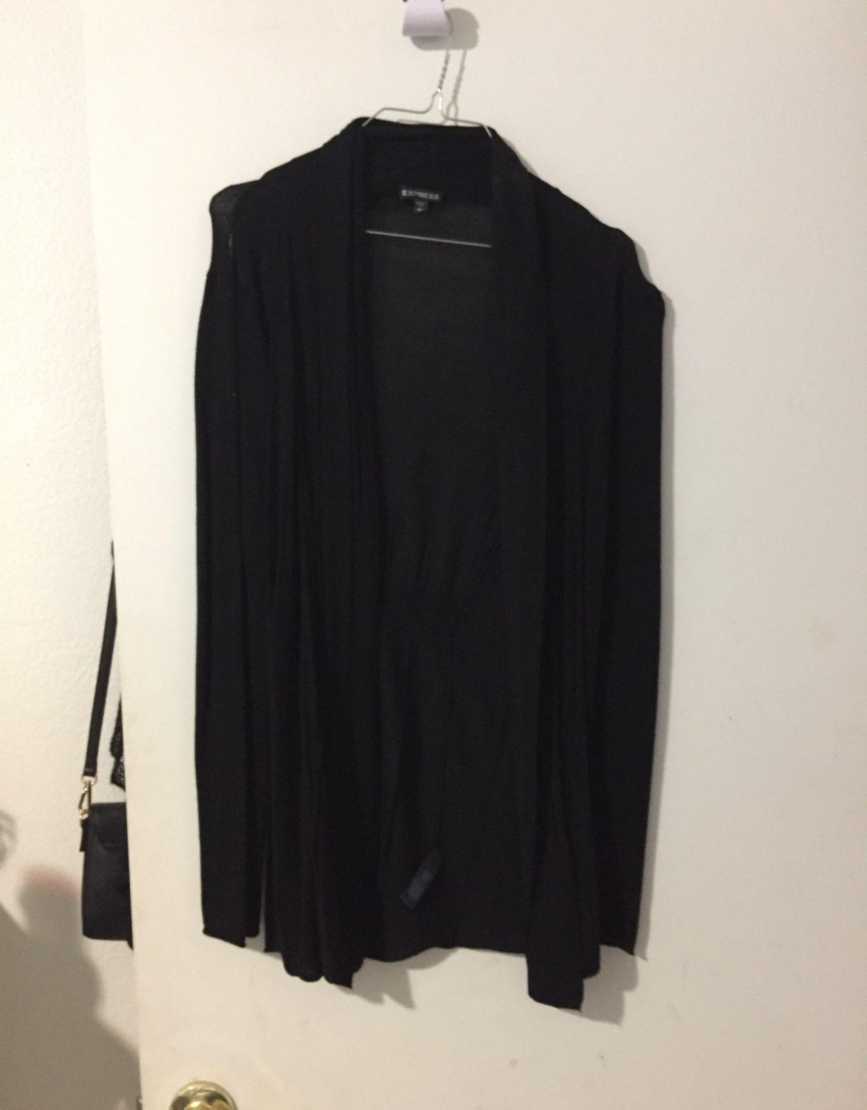 Express Black Cardigan - Mercari: BUY & SELL THINGS YOU LOVE
