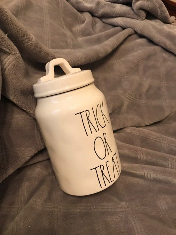 Large Letter Trick Or Treat Canister