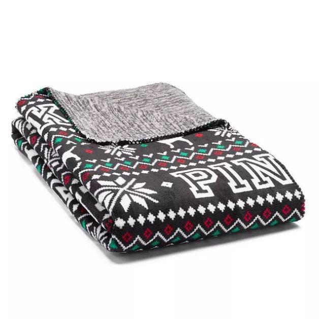 VS Pink Fair Isle Fleece Blanket - Mercari: BUY & SELL THINGS YOU LOVE
