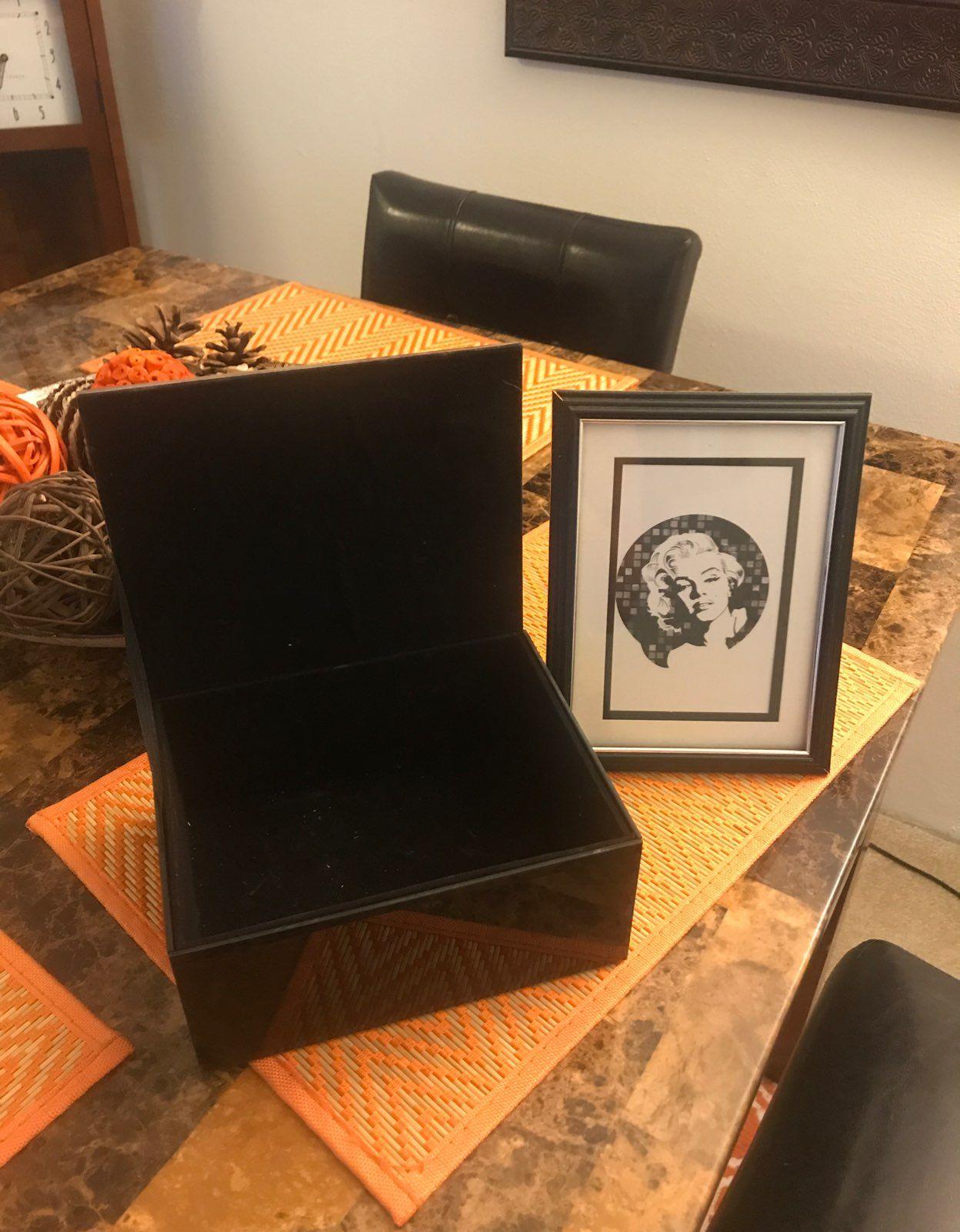Marilyn Monroe Glass Jewelry Box And Pic Mercari BUY SELL
