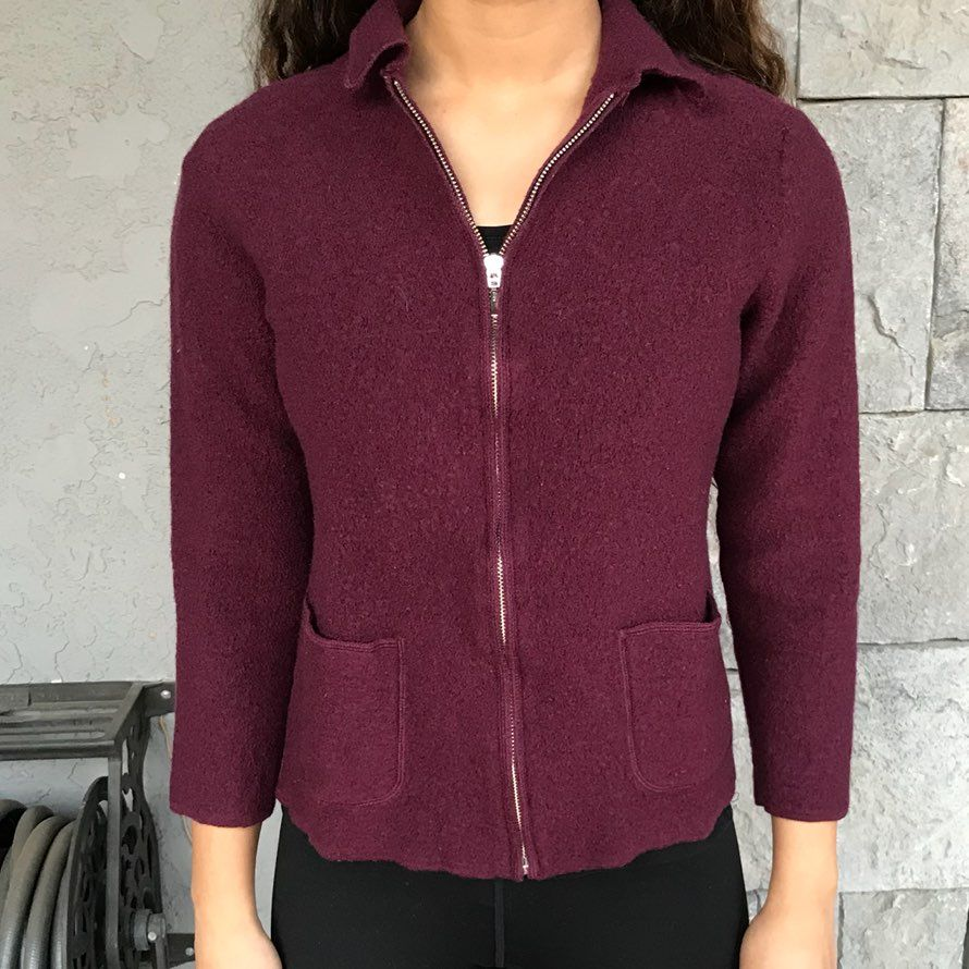 Burgundy Wool Sweater - Mercari: BUY & SELL THINGS YOU LOVE