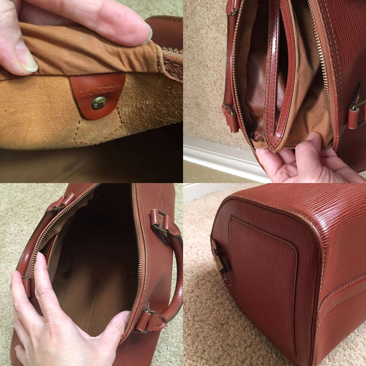 Authentic LouisVuitton Epi Speedy 30
