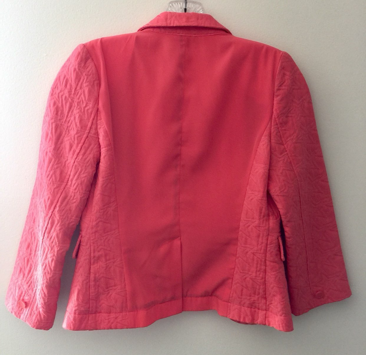 Women's Coral Orange Blazer Vera Wang S