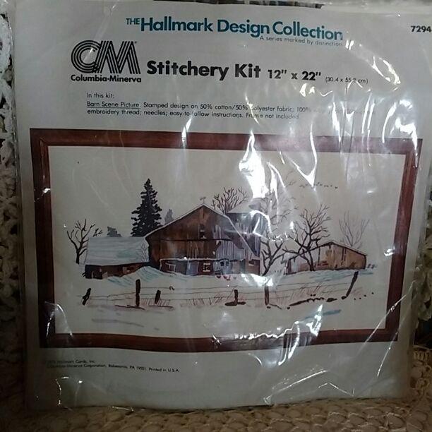 Barn Scene Stitchery Kit