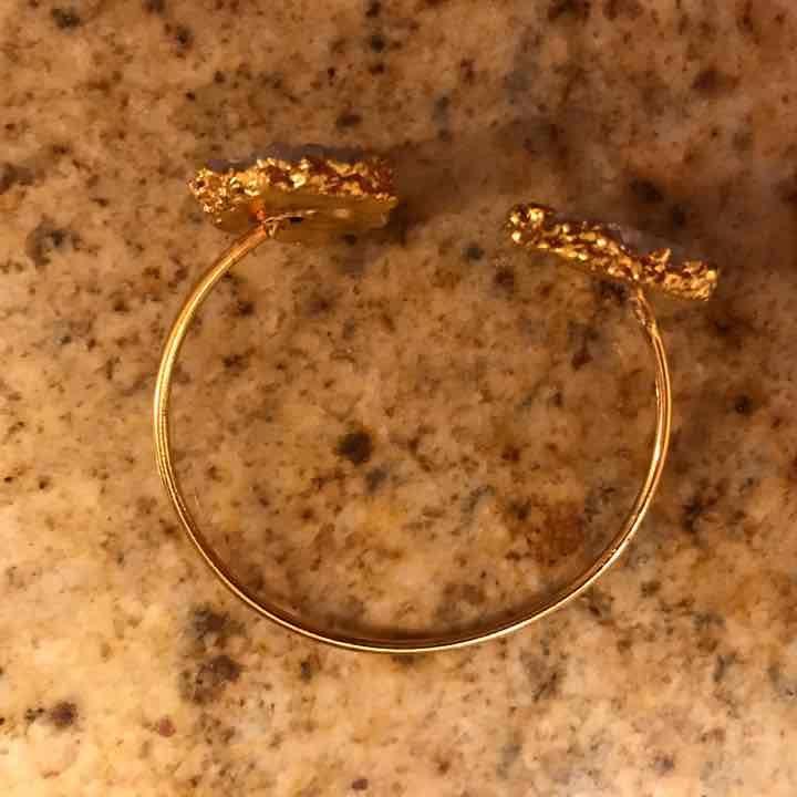 New gold solar quartz bracelet