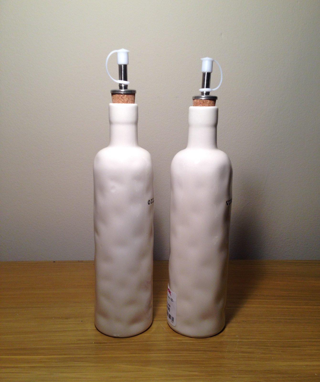 Rae Dunn Oil & Vinegar Set With Spouts