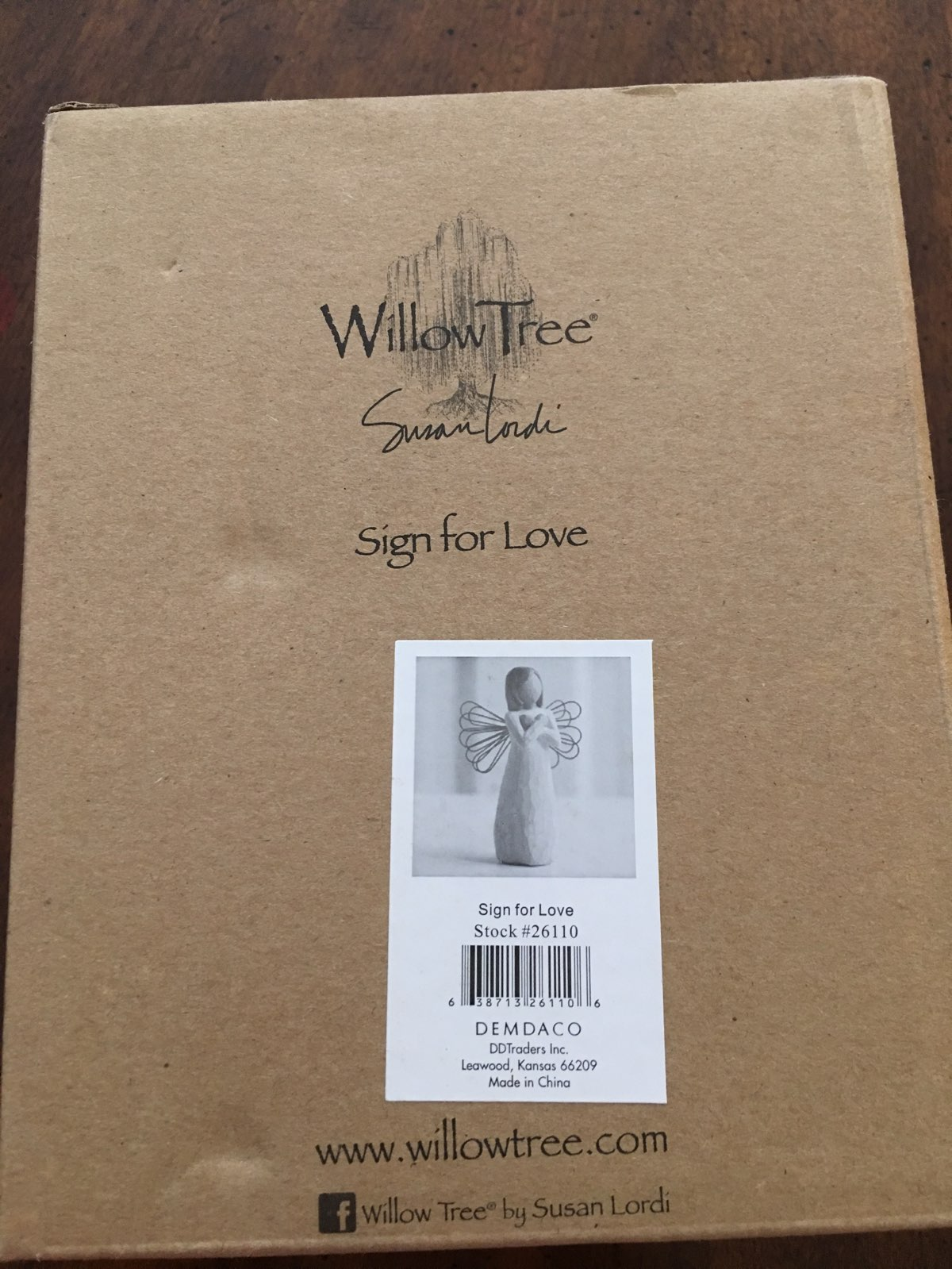 Willow Tree Sign for Love