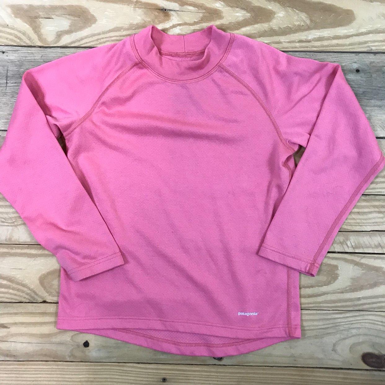 B Patagonia Capilene LS Girls 8 Pink