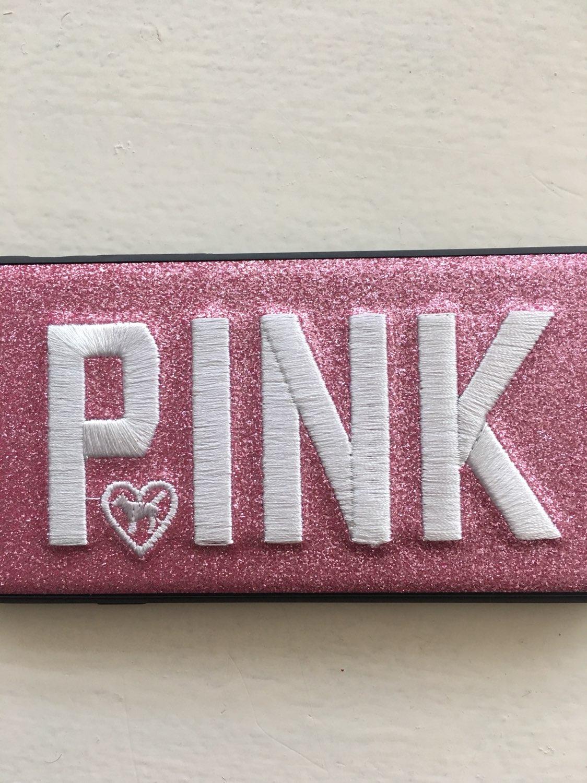 VS PINK 3D Glitter iPhone 7/8 Pink Case