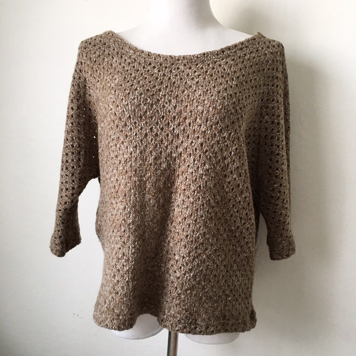PIKO 1988 Brown Cable Knit Sweater - Mercari: BUY & SELL THINGS ...