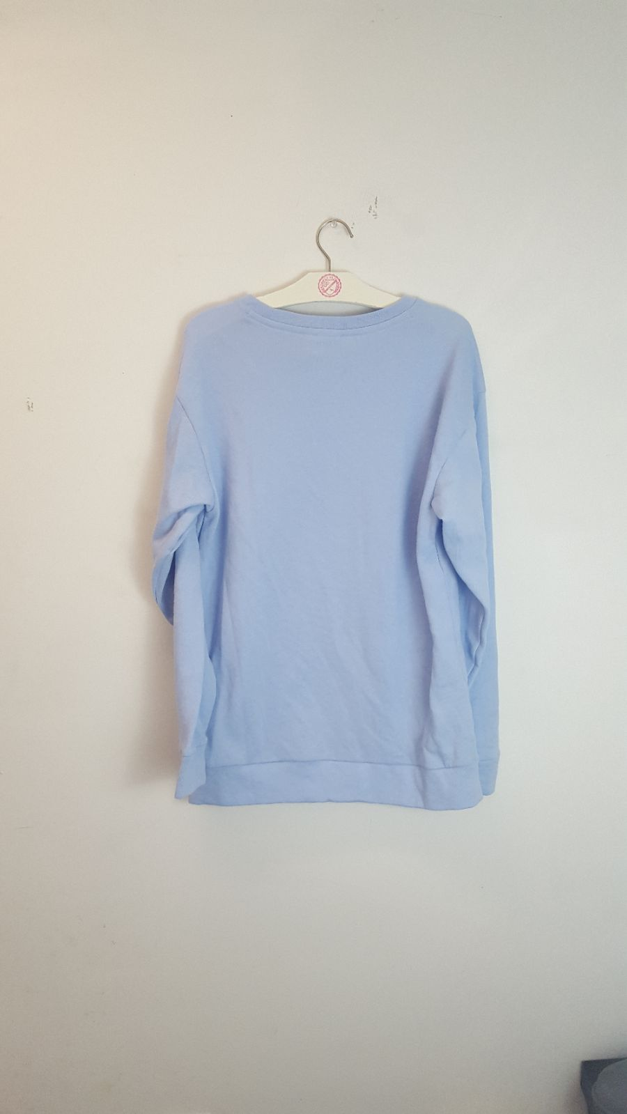 VS PINK Oversized Baby Blue Crewneck - Mercari: BUY & SELL THINGS ...