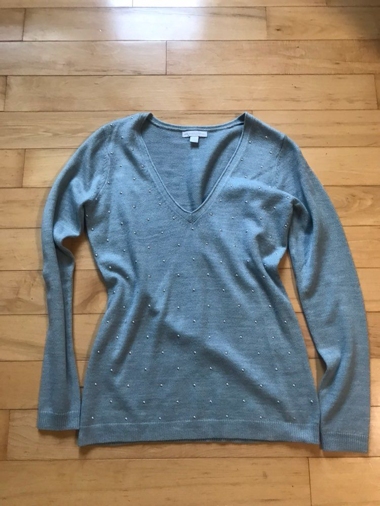 Dusty Blue Sweater - Mercari: BUY & SELL THINGS YOU LOVE