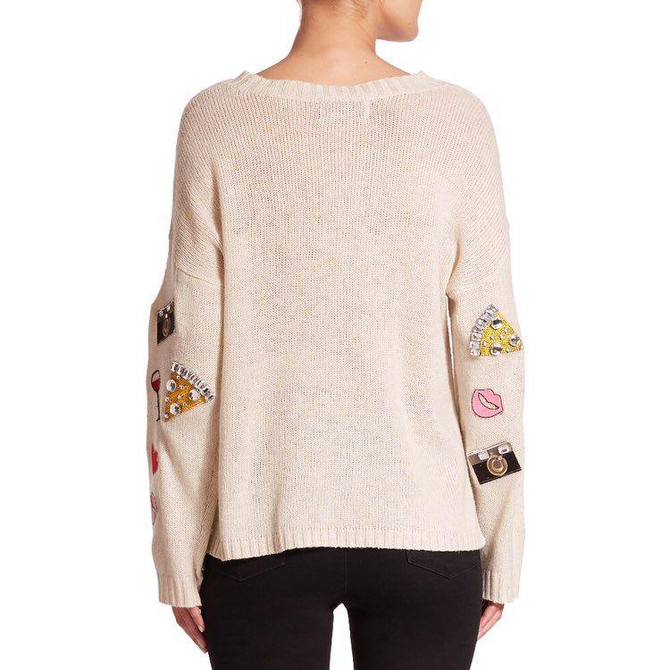 Wildfox Emoji Embellished Sweater