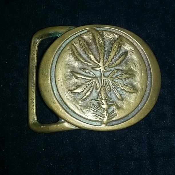 Sativa vintage belt buckle brass