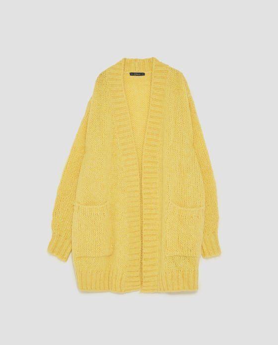 Zara oversize yellow cardigan - Mercari: BUY & SELL THINGS YOU LOVE