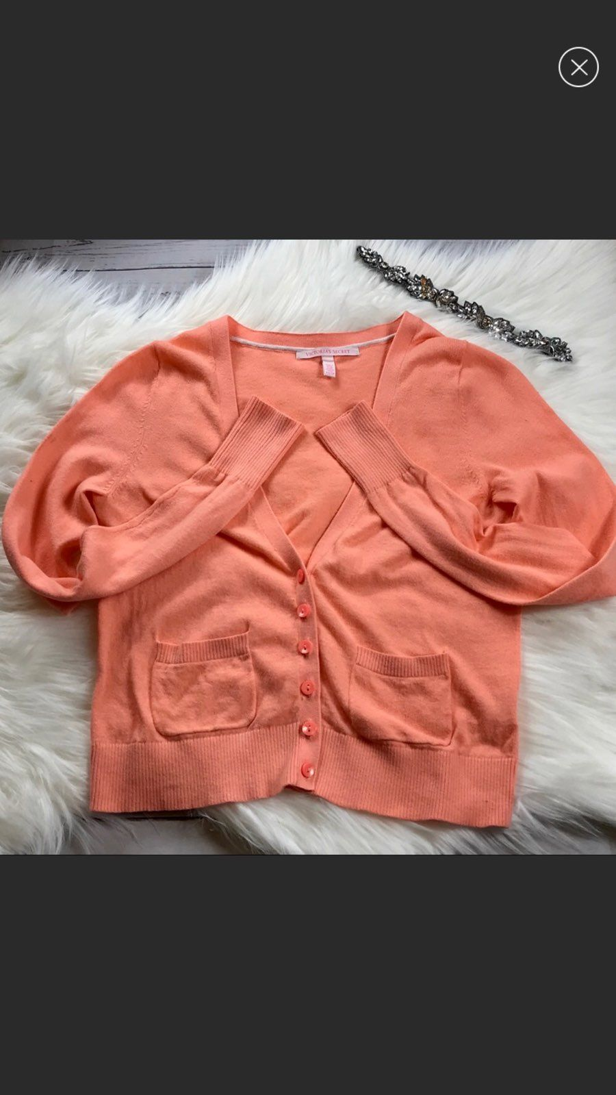 Victoria's Secret Coral Cardigan Sweater - Mercari: BUY & SELL ...