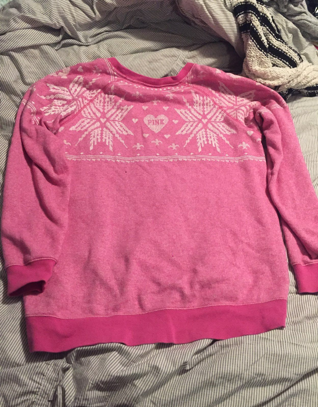 Victoria's Secret Pink Fair Isle Sweater - Mercari: BUY & SELL ...