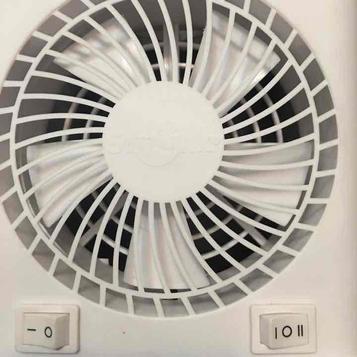 Sunlink fan/LED light combo RV bunk clip